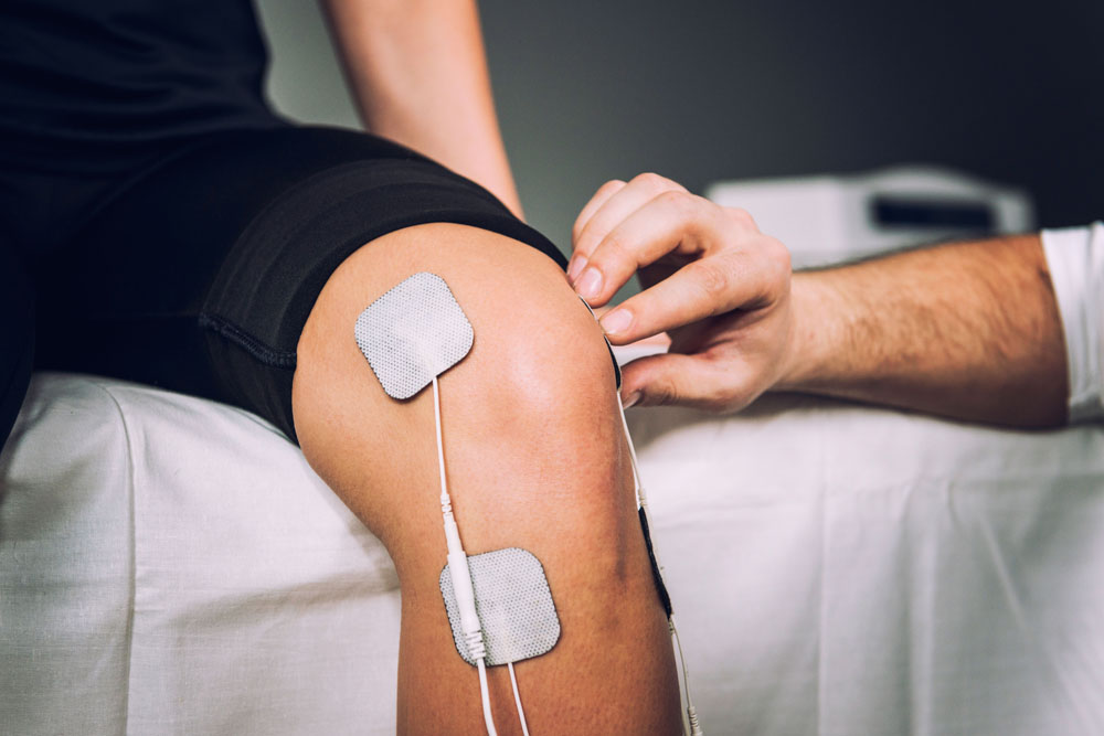 electric stimulation on knee