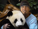 Dr. Wooten and a Panda